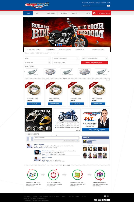 #24 for Design a Website Mockup for megaparts.com by shankardesigner