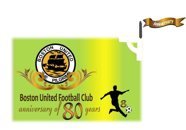 Proposition n°23 du concours Design a Logo for Boston United Football Club's 80th Anniversary