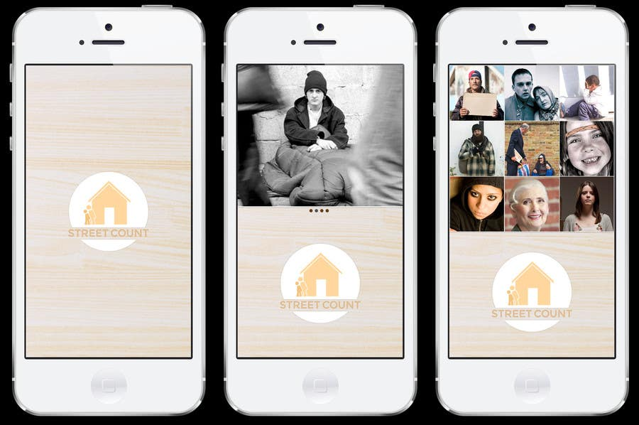 Inscrição nº                                         5                                      do Concurso para                                         Design an App Mockup for Homeless Tracking Mobile App