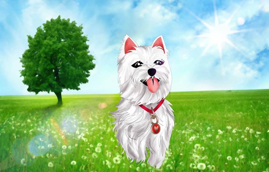 Inscrição nº 32 do Concurso para crreate a cartoon illustration of my dog for a childrens book