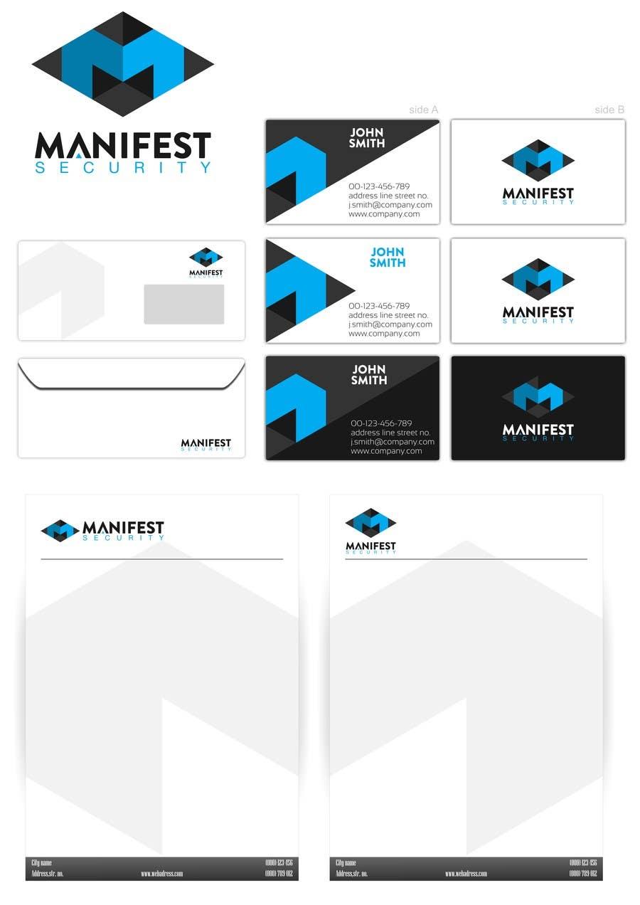 """""""Manifest Security"""" Logo için 36 numaralı Yarışma Girdisi"""