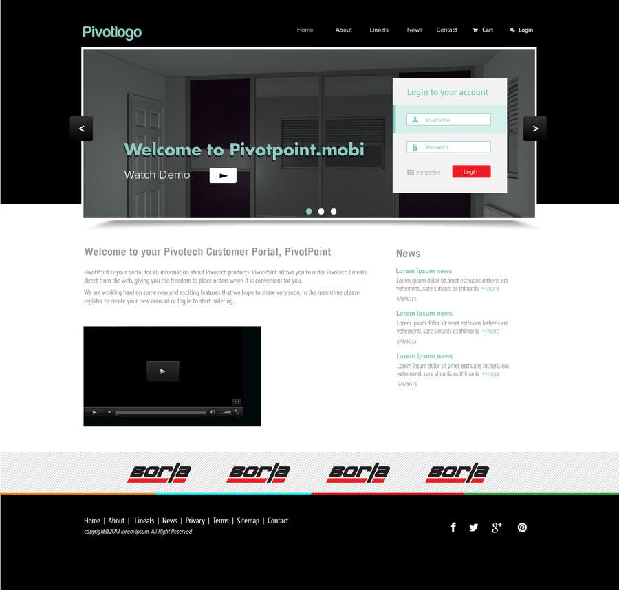 #47 for Design a Website Mockup for revitalization of our B2B customer resource by jeransl