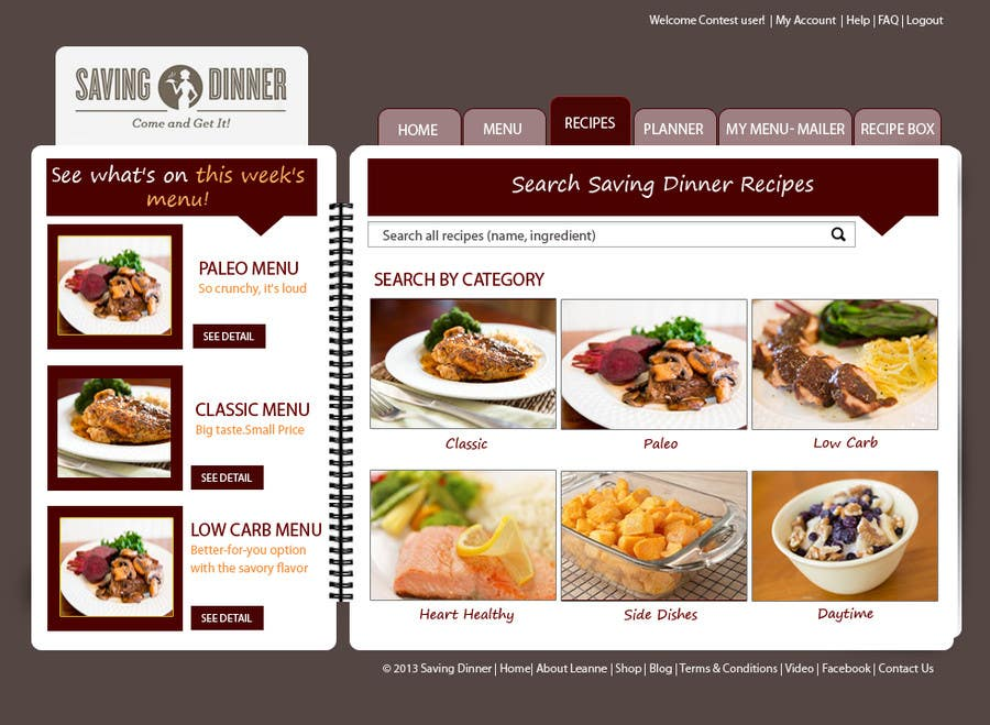 #27 for Design a Website Mockup for our Premium Menu-Mailer website. by HBPC