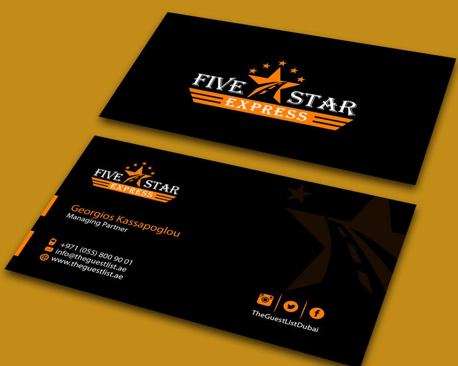 Entry 7 by allhajj17 for brokerage business cards for five star contest entry 7 for brokerage business cards for five star express reheart Choice Image