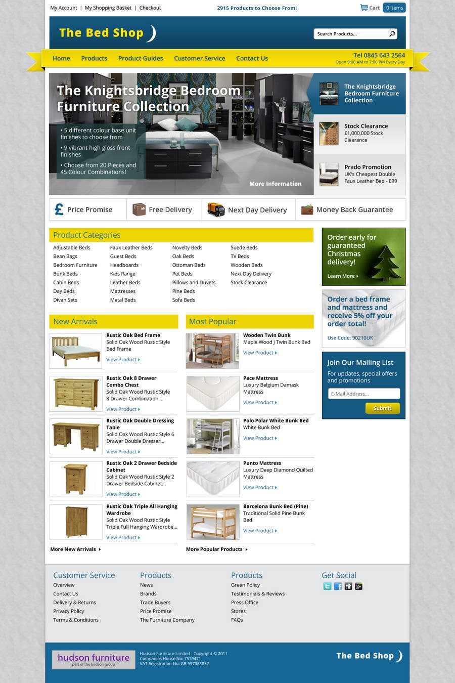 Proposition n°28 du concours Website Design for The Bed Shop (Online Furniture Retailer)