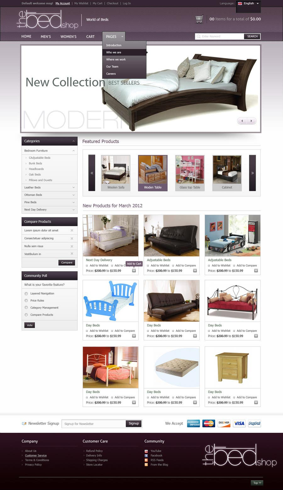 #52 for Website Design for The Bed Shop (Online Furniture Retailer) by Macario88