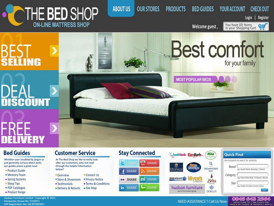 Contest Entry #18 for Website Design for The Bed Shop (Online Furniture Retailer)