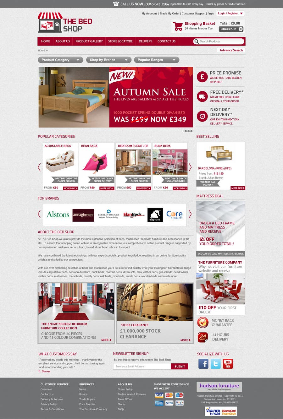#35 for Website Design for The Bed Shop (Online Furniture Retailer) by Leoda