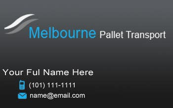 #7 for Design some Business Cards for Melbourne Pallet Transport by rusale