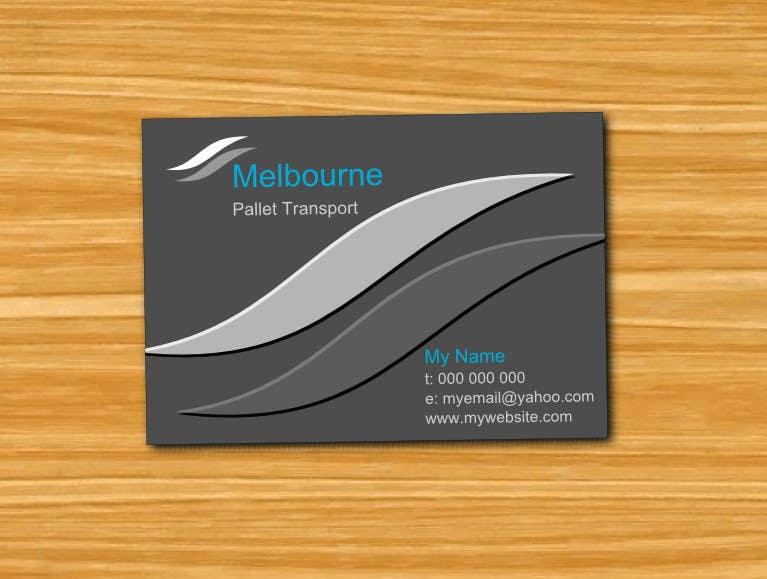 #30 for Design some Business Cards for Melbourne Pallet Transport by majidshah777