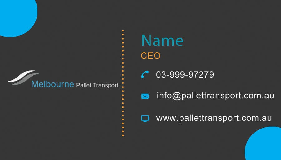 #22 for Design some Business Cards for Melbourne Pallet Transport by preethyr