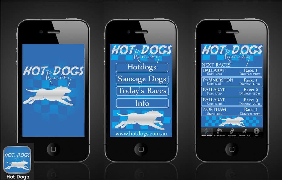 #65 for Graphic Design for Hotdogs racing by b0bby123