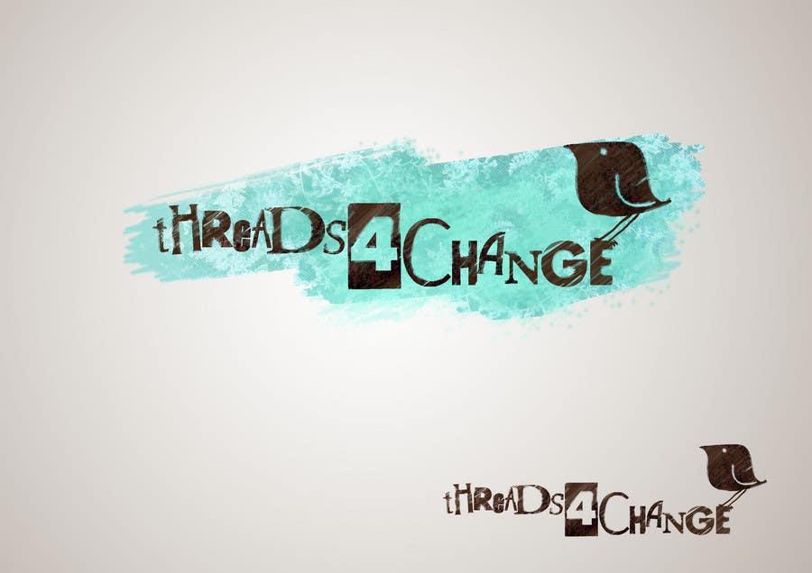 Kilpailutyö #183 kilpailussa Logo Design for Threads4Change