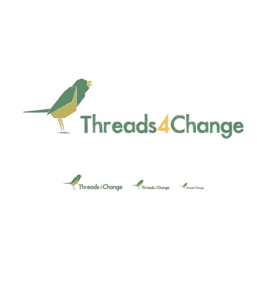 Kilpailutyö #145 kilpailussa Logo Design for Threads4Change