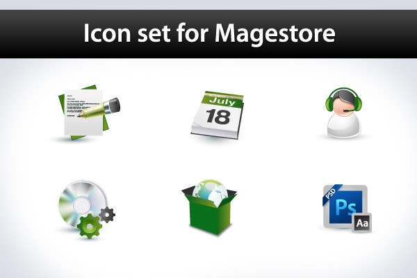 Inscrição nº                                         35                                      do Concurso para                                         Design Icon Set for Magestore (will choose 3 winners)