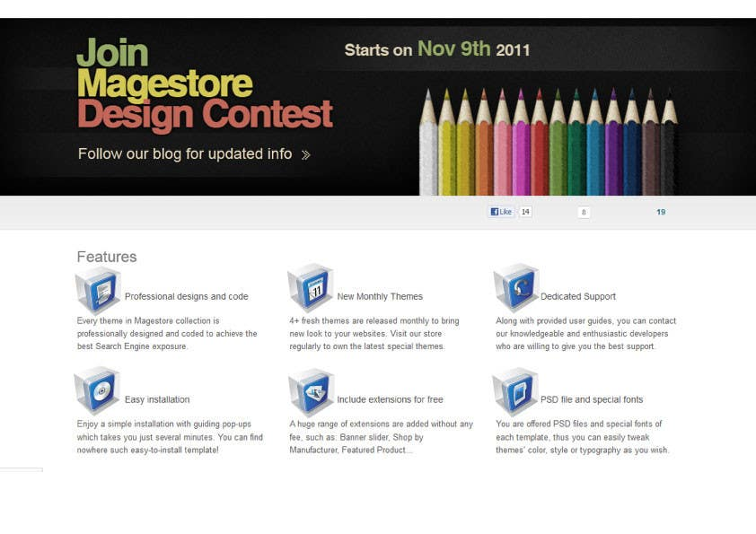 Kilpailutyö #                                        45                                      kilpailussa                                         Design Icon Set for Magestore (will choose 3 winners)