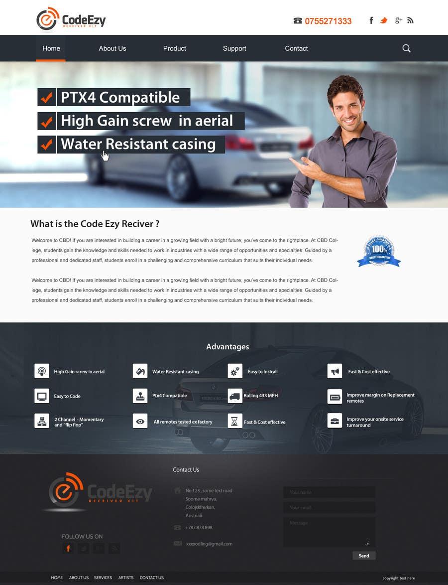 #21 for Design a Website Mockup for Garage door accessories company by SadunKodagoda