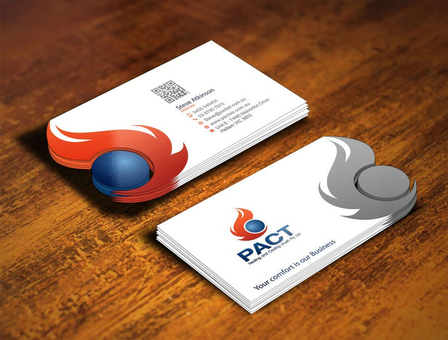 Entry #175 by gohardecent for Design some Business Cards for HVAC ...
