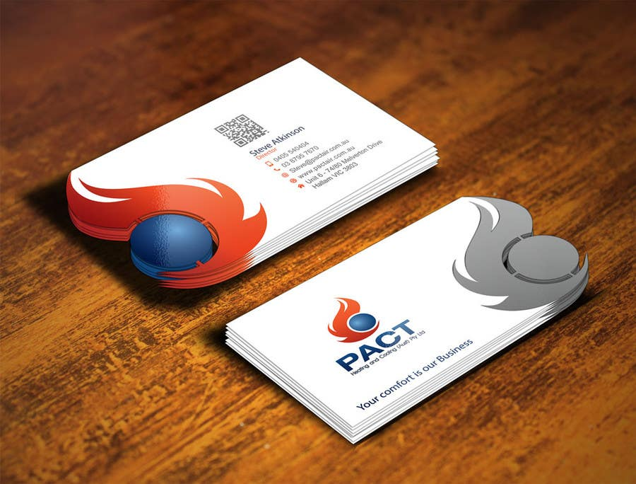 Entry #182 by gohardecent for Design some Business Cards for HVAC ...