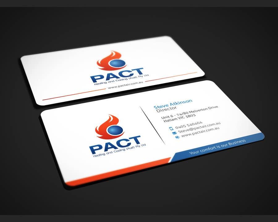 Design some Business Cards for HVAC Business