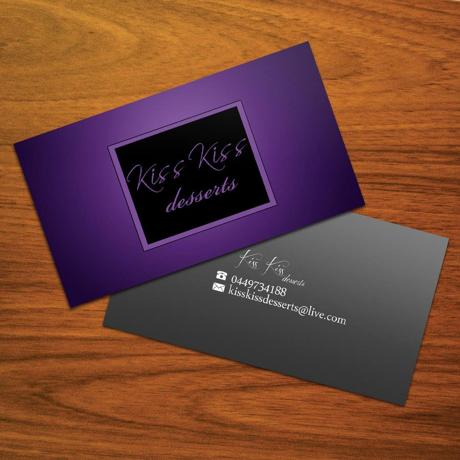 Inscrição nº                                         227                                      do Concurso para                                         Business Card Design for Kiss Kiss Desserts