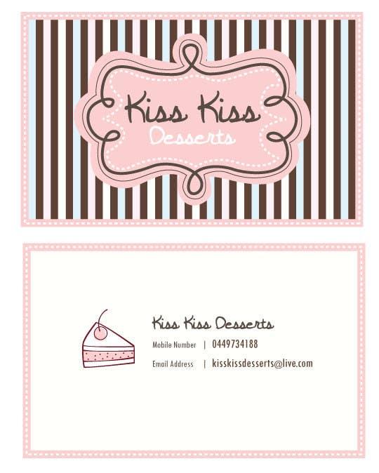 Konkurrenceindlæg #151 for Business Card Design for Kiss Kiss Desserts