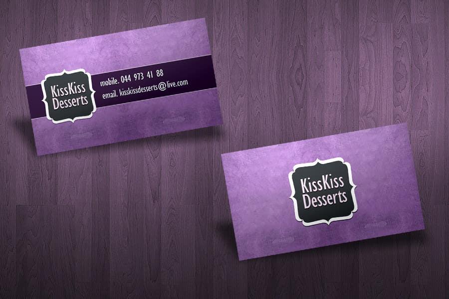Konkurrenceindlæg #79 for Business Card Design for Kiss Kiss Desserts