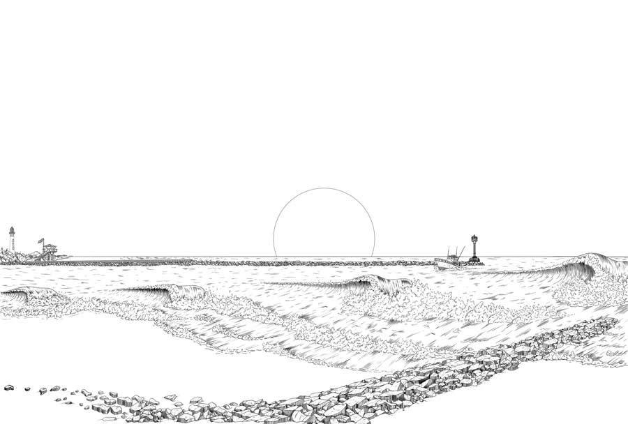 Top entries hand drawn naturalcartoon oceansurf scene featured contest voltagebd Gallery