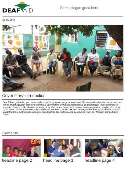Penyertaan Peraduan #9 untuk Newsletter design for wed and for print