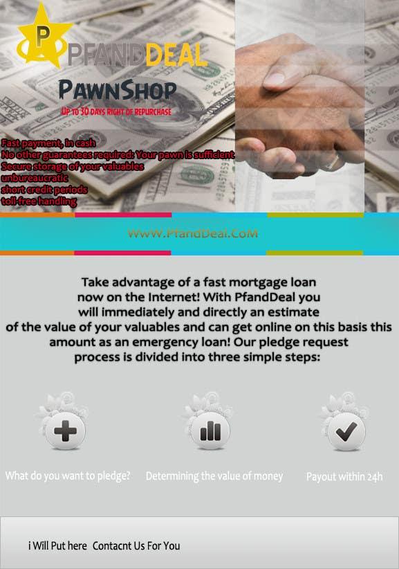 Konkurrenceindlæg #                                        11                                      for                                         PawnShop BusinessFlyer