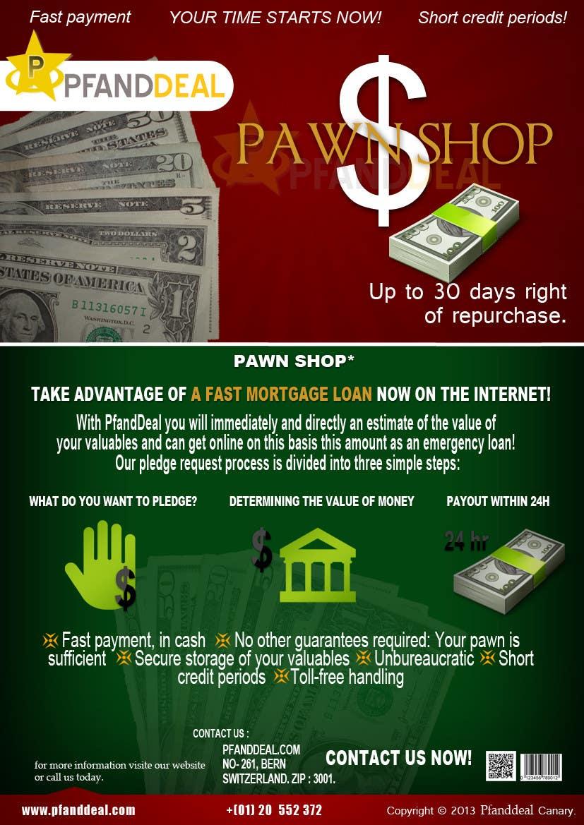 Konkurrenceindlæg #                                        5                                      for                                         PawnShop BusinessFlyer