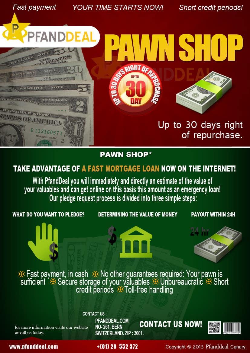 Konkurrenceindlæg #                                        20                                      for                                         PawnShop BusinessFlyer