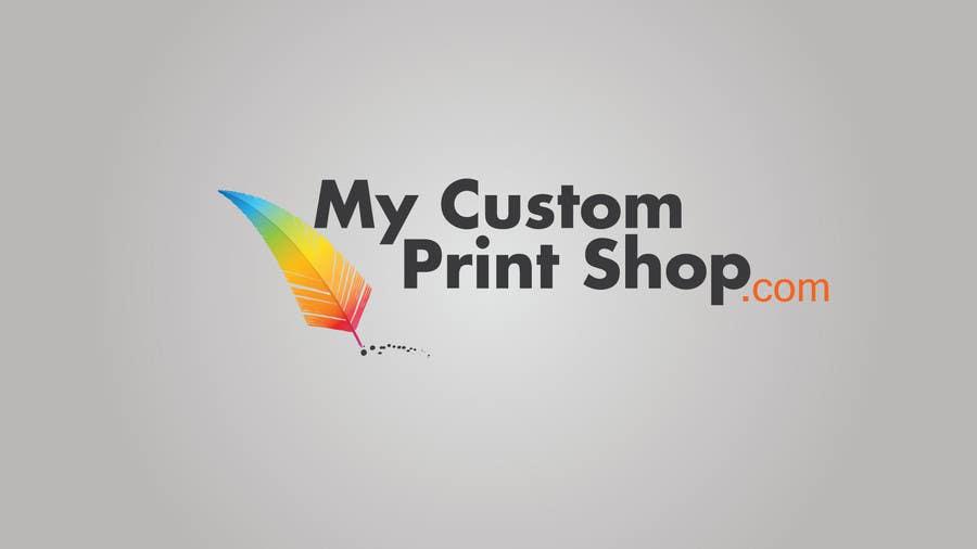 Design a Logo for MyCustomPrintShop.com için 21 numaralı Yarışma Girdisi
