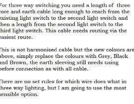 #1 para Create a video -How to wire a 3 way light switch UK por coolsravan2000