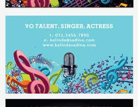 #17 for Design some Business Cards for an Artist who Sing, Dance, Act, Voice Over, Performing Art by milkshake235