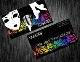 #11 para Design some Business Cards for an Artist who Sing, Dance, Act, Voice Over, Performing Art por hollyfisch