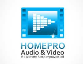 #347 pentru Logo Design for HomePro Audio & Video de către rogeliobello