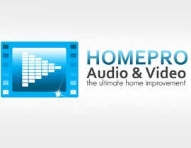 #348 pentru Logo Design for HomePro Audio & Video de către rogeliobello