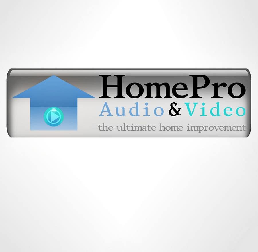 Kilpailutyö #337 kilpailussa Logo Design for HomePro Audio & Video