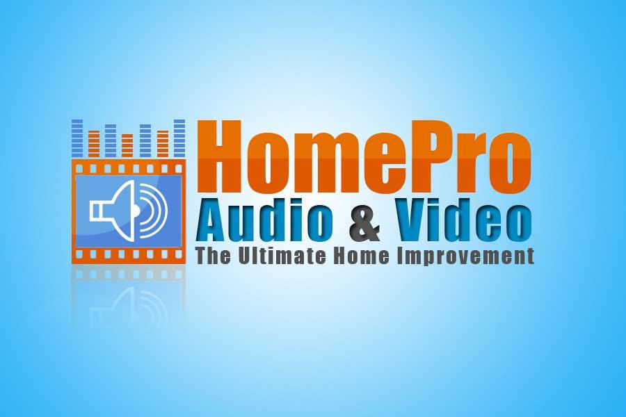 Bài tham dự cuộc thi #                                        336                                      cho                                         Logo Design for HomePro Audio & Video