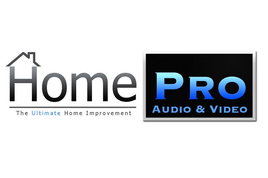 Bài tham dự cuộc thi #                                        271                                      cho                                         Logo Design for HomePro Audio & Video