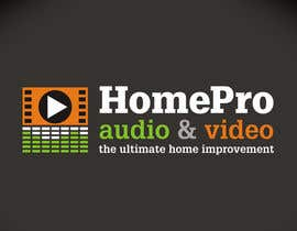 #198 pentru Logo Design for HomePro Audio & Video de către santarellid