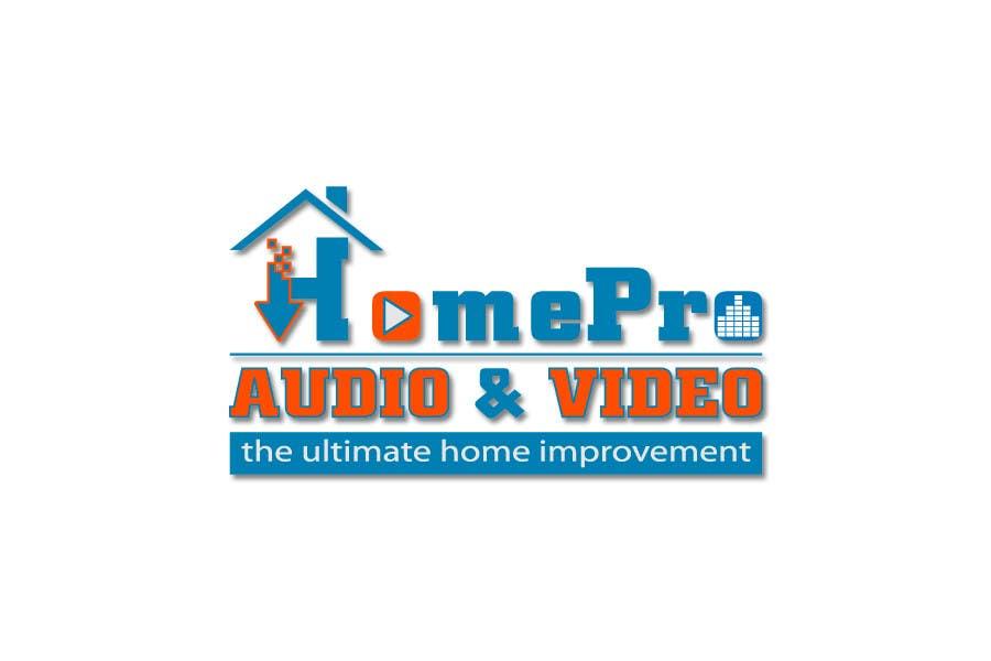 Bài tham dự cuộc thi #                                        313                                      cho                                         Logo Design for HomePro Audio & Video