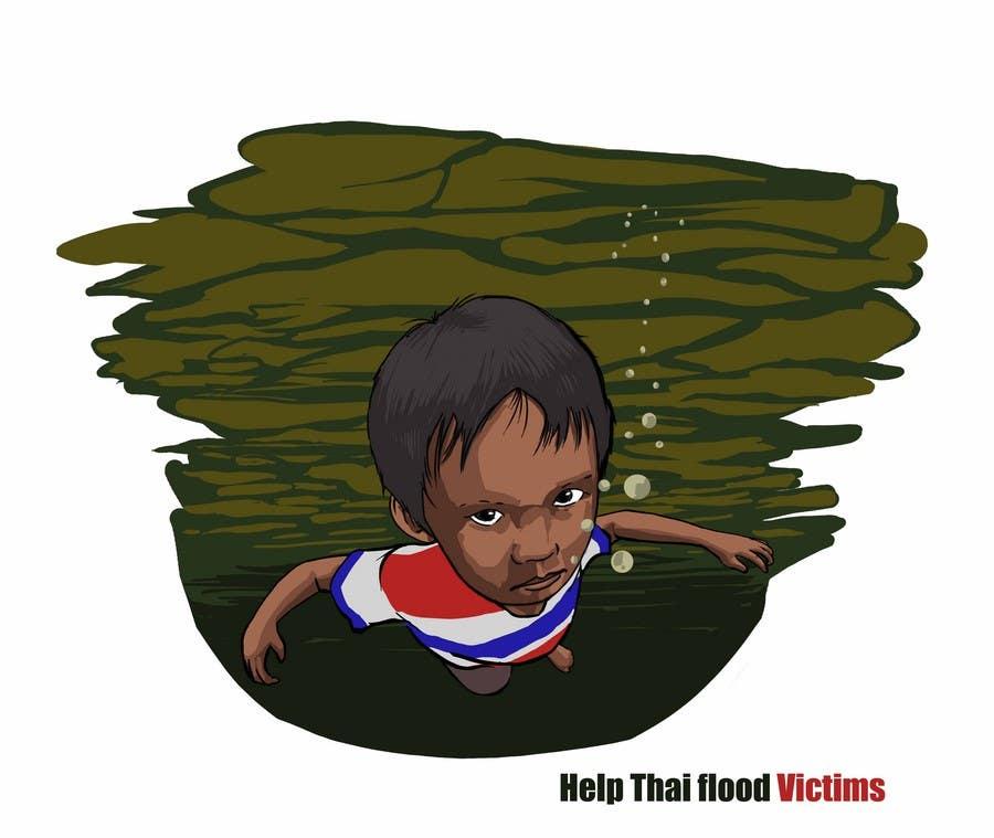 Inscrição nº 85 do Concurso para T-Shirt Design for Thai Flood Victims