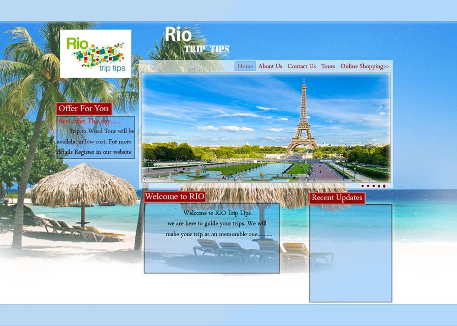#10 for Create a Website Layout for a Tourism Company by acutegroups