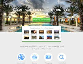 #3 for Create a Website Layout for a Tourism Company by Zeshu2011