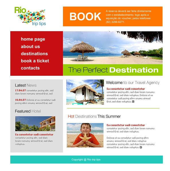 #2 for Create a Website Layout for a Tourism Company by paliborek