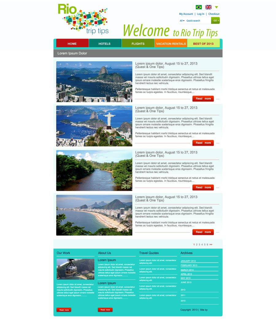 #15 for Create a Website Layout for a Tourism Company by grafixeu