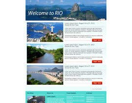 nº 20 pour Create a Website Layout for a Tourism Company par grafixeu