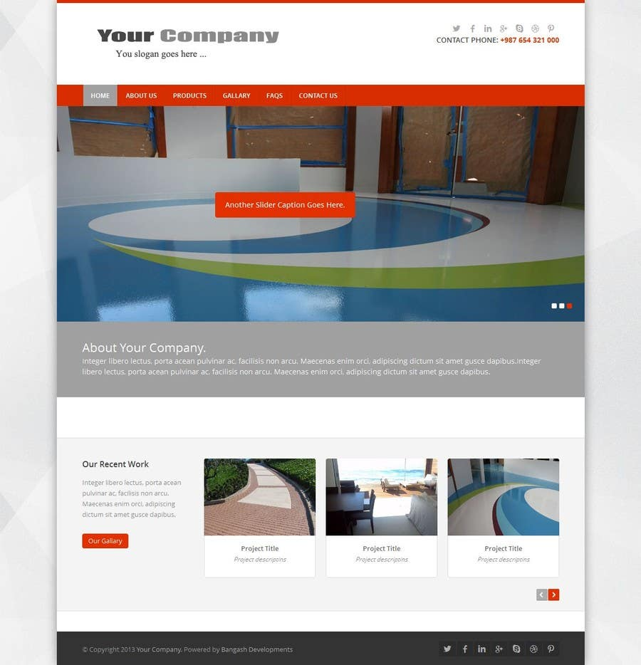 Contest Entry #6 for Build a Website for Construction / Concrete Work